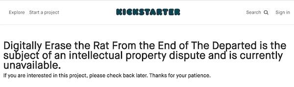 Kickstarter dispute notice