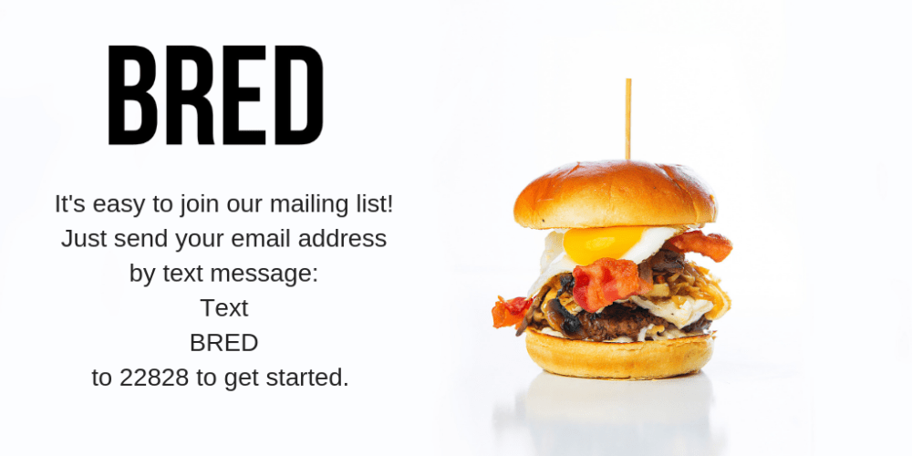 Bred Mailing list Sign Up