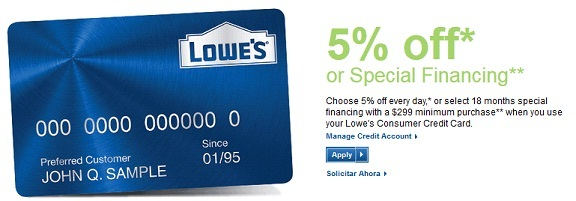 Apply & Manage Lowe's Consumer Credit Card For Easy