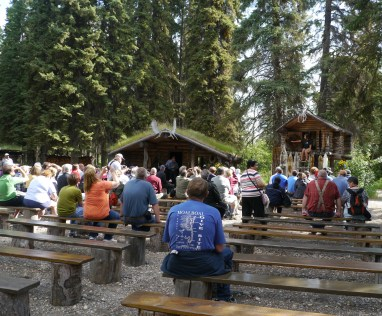 This is one of the guided tour at the Chena Indian Village one of the stops of the Riverboat Discovery tour. This tour is very well done.
