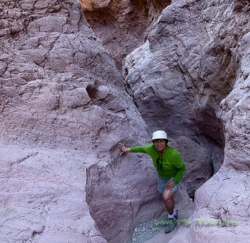Coming out of the narrow canyon