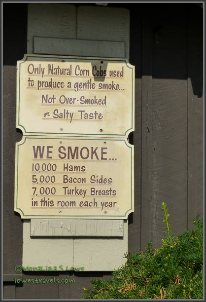 Imagine the smells coming out of their smokehouse!