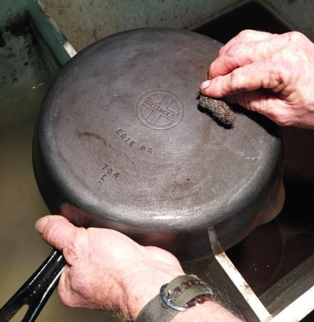 Scrubbing Cast Iron