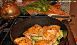 Chicken, fennel, and leeks