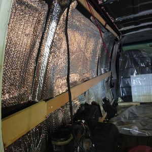 Reflectix van insulation