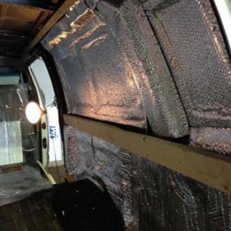 Reflectix van insulation