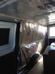 Van insulation Vapor Barrier