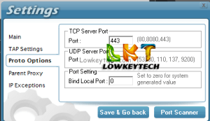 Pd-proxy settings