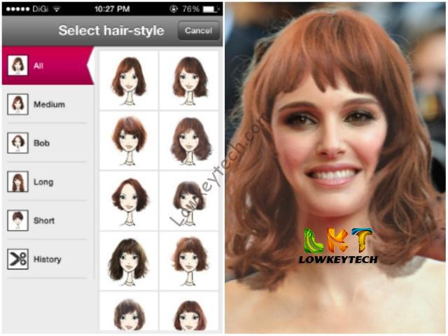 Hair styling app for android