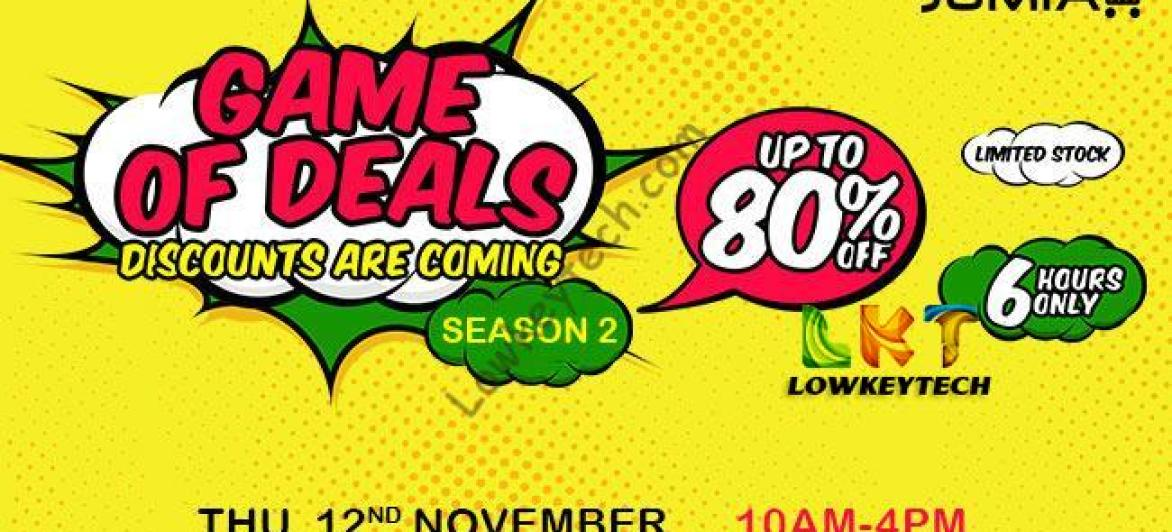 Déjà vu: 2nd Edition of the Jumia Game Of Deals (GOD)