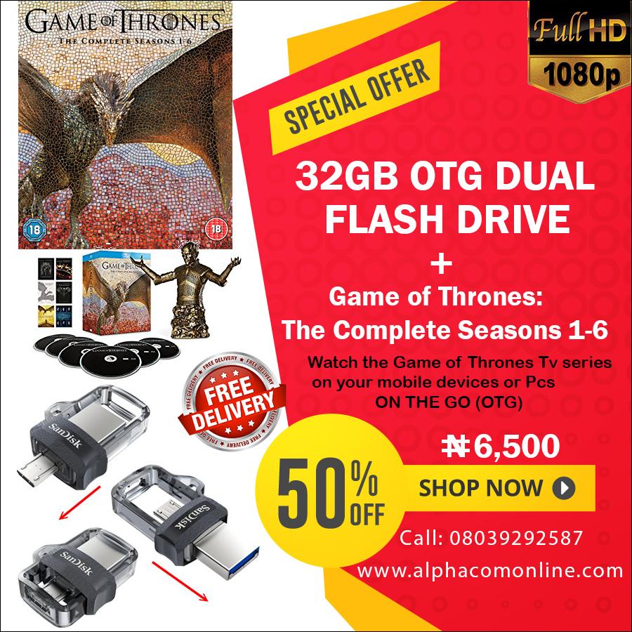 Sandisk 32gb Otg Dual Usb Flash Drive Free Game Of Thrones Season Flashdisk Share