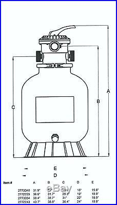 Sand Filter Valve Position Operation Hayward Pool Pump