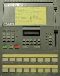 Glen Sisela the Gits Alesis HR16 drum machine