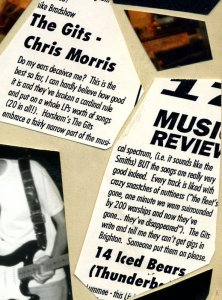 Review of the Gits cassette 'Chris Morris' in the Brighton magazine The Punter