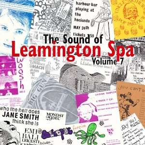 Gig tickets, fanzines and other ephemera making up the cover of The Sound Of Leamington Spa Volume 7
