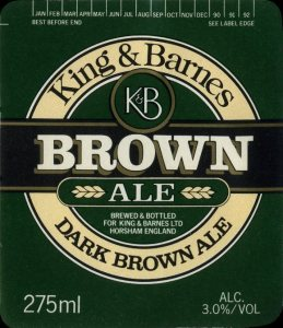 King & Barnes Brown Ale drinks mat (pre-Hall & Woodhouse)
