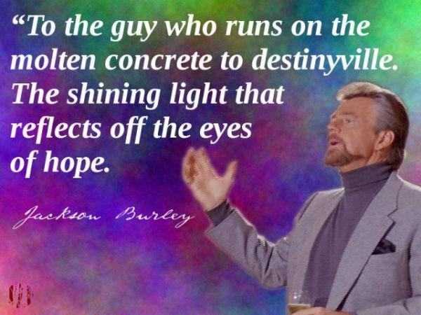 To the guy who runs on the molten concrete to destinyville.