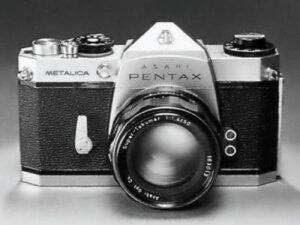 Photo of the prototype Pentax Metalica