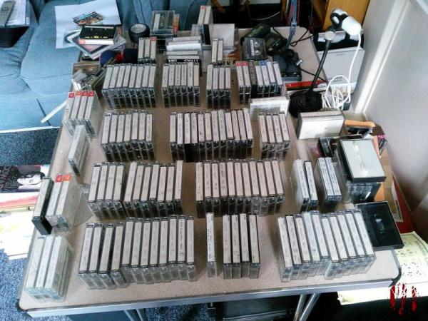 Rows upon rows of cassette tapes