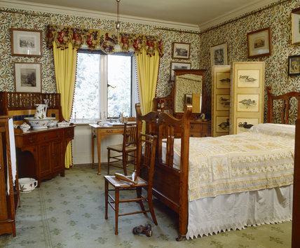 Domestic Animals Wallpaper The Yellow Bedroom With William Morris Quot Pomegranate Quot Or