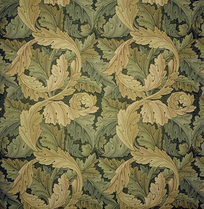 Detail of Acanthus wallpaper designed by William Morris c