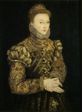 PORTRAIT OF AN UNKNOWN LADY 16th century English Lacock