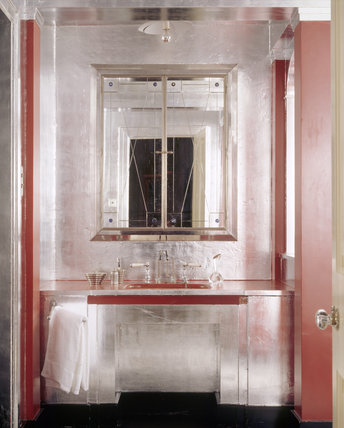 The Art Deco bathroom at Upton House created in the late