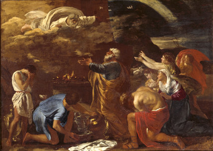A Painting Of THE SACRIFICE OF NOAH By Nicolas Poussin