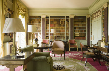 The Library at Hinton Ampner Hampshire with Regency