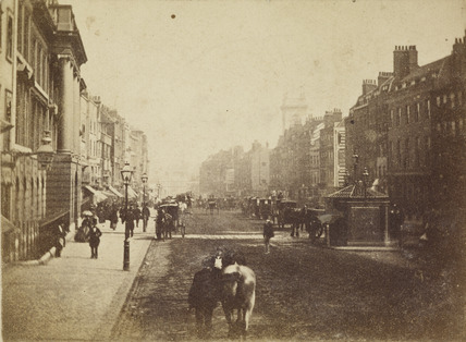 Street scene in London c1860 by Valentine Blanchard at