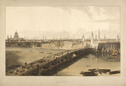 London Bridge 1804 by William Daniell at Museum of London