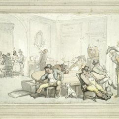 Thomas Table And Chairs Uk Patio Chair Repair Vinyl Strap Gaming At Brooks's Club: 19th Century By Rowlandson Museum Of London