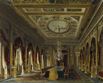 The Throne Room Carlton House 1819 by WH Pyne at