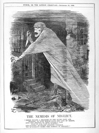 The nemesis of neglect 1888 by Punch at Museum of London