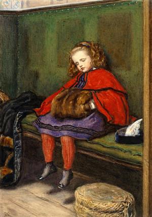Girl Art Print Wallpaper My Second Sermon By John Everett Millais Memoryprints
