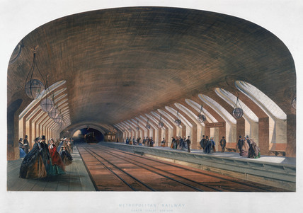 Baker Street station London 1863 by Kell Brothers at
