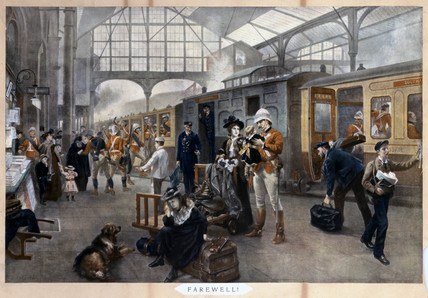 Farewell Waterloo Station London 1897 by