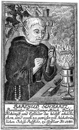 Berthold Schwarz German Franciscan monk c 1380 at