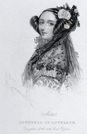 Ada King, Countess of Lovelace, c 1840. by Brown, Joseph