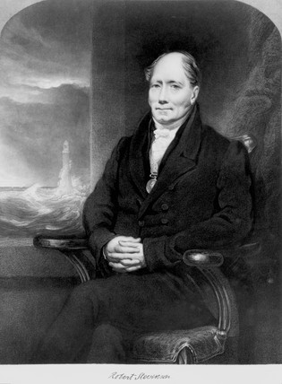 RLS's grandfather, the engineer Robert Stevenson (1772-1850), on his chair [http://lowres-picturecabinet.com.s3-eu-west-1.amazonaws.com]