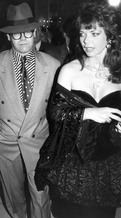 Elton John and wife Renate 1988 at Science and Society