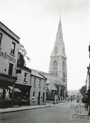 St Andrews Church from Julian Road looking west c1920 by