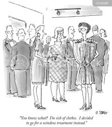 Clothes Shopping Cartoons and Comics funny pictures from CartoonStock