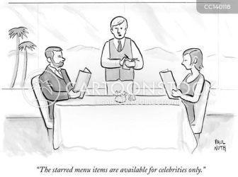fancy restaurant cartoon cartoons restaurants comics menu items funny