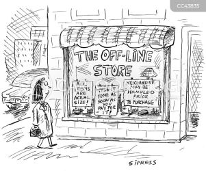 offline cartoon shopping cartoons funny retail internet comics