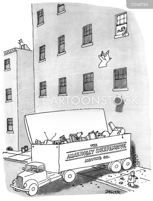 Moving Van Cartoon : moving, cartoon, Moving, Cartoons, Comics, Funny, Pictures, CartoonStock