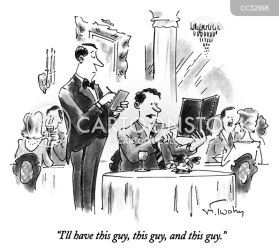 cartoon inappropriate behavior cartoons restaurants waiter comics funny food low