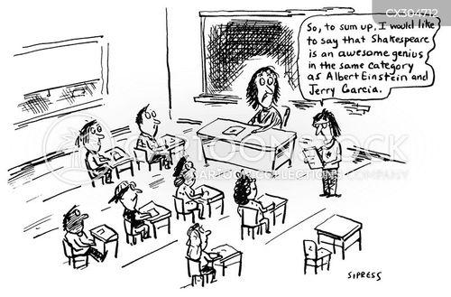 Language Arts Cartoons