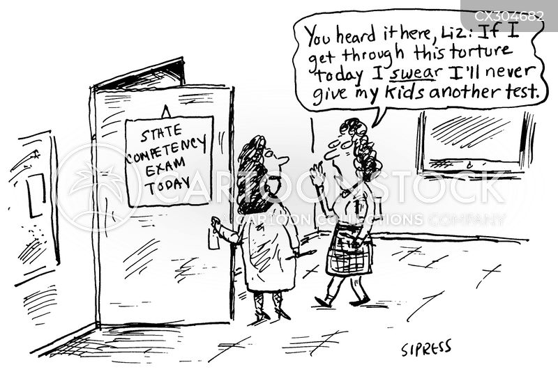 State Competency Exams Cartoons