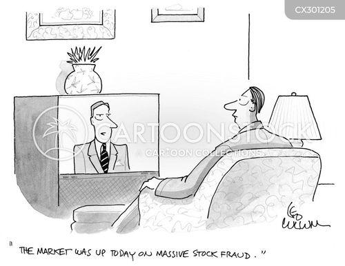 the financial market cartoons